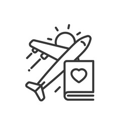 Travel - modern single line icon vector