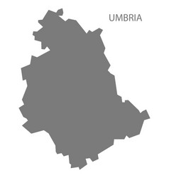 Umbria italy map grey vector