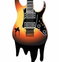 Urban guitar illustration vector