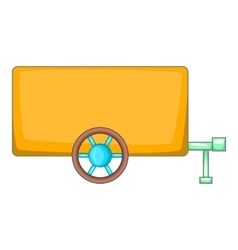 Vehicle car trailer icon cartoon style vector image