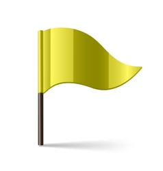 Yellow flag vector image