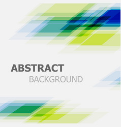 abstract green and blue business straight line vector image