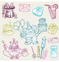 doodle birthday 1 vector image