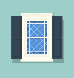 elements of architecture window background vector image