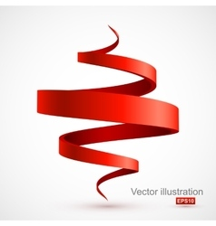 Red spiral 3D vector image vector image