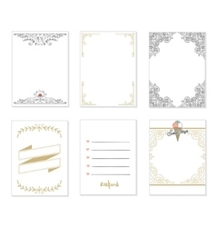 Set of 6 creative journaling cards vector image vector image