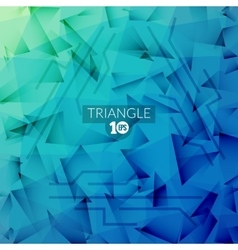 Abstract Triangle polugonal Blue Business vector image
