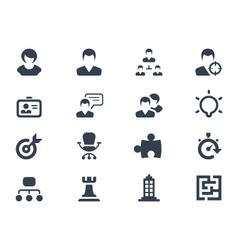 Human resource icons vector