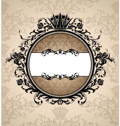 Royal artistic vintage frame vector