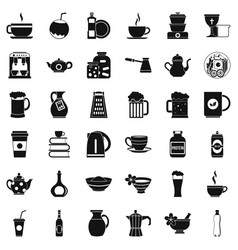 utencil icons set simple style vector image