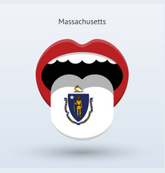 Electoral vote of massachusetts abstract mouth vector