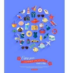 Enjoy your summer vacation every day Summer vector image vector image