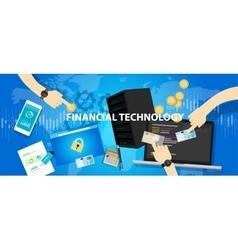 fintech financial technology services banking vector image vector image