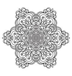 Hand drawing zentangle mandala element vector image