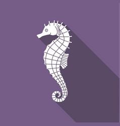 icon seahorse with shadow vector image vector image