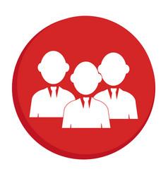 red circular border silhouette executive men vector image