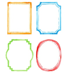 Set watercolor frames vector image vector image
