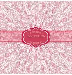Vintage background for invitation card vector image vector image