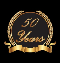 50 years commemoration vector image