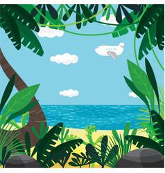 About summer beach plants sea sky vector