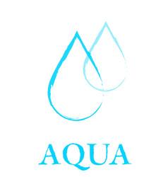 art water droplet sign vector image