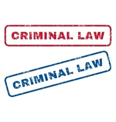 Criminal Law Rubber Stamps vector image