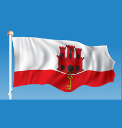 flag of gibraltar vector image vector image