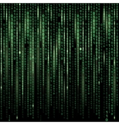 Stream of binary code on screen Abstract vector image vector image