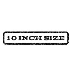 10 inch size watermark stamp vector image