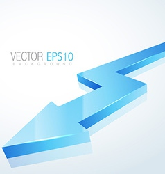 3d blue arrow in isolated background vector image