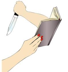 A true Crime Novel vector