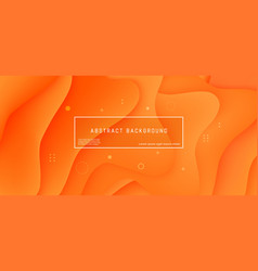 abstract background wave motion flow orange vector image