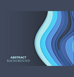 abstract background with blue layered paper vector image