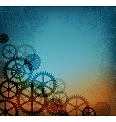 Abstract steampunk background vector image