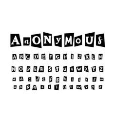Anonymous letter set for secret message vector