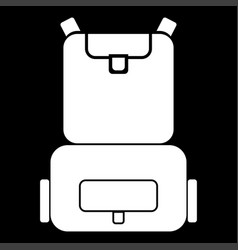 Backpack the white color icon vector