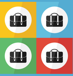 bag icon flat design vector image