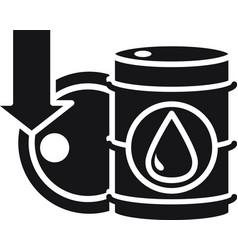 Barrels downturn collapse trade crisis economy vector