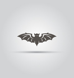 bat isolated black icon or sign vector image