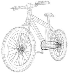 Bicycle wireframe concept blue purple vector