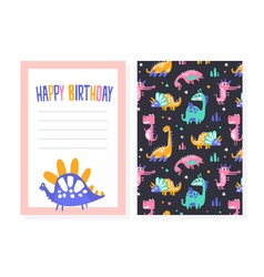 birthday party card template invitation greeting vector image