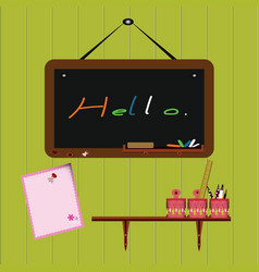 Blackboard with accessory vector