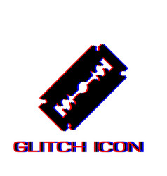 blade razor icon flat vector image