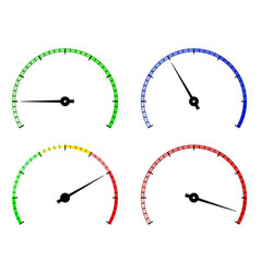 Blank gauge round scale vector