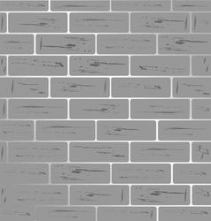 Brick wall grey shiny vector