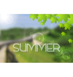 Bright green summer landscape design vector