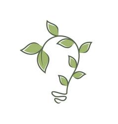Bulb leaf ornament vector