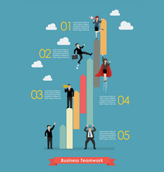 Business teamwork concept infographic vector