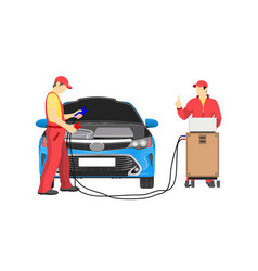 Car repair service abstract vector