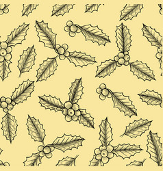 christmas mistletoe pattern vector image
